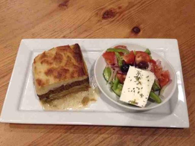 Penticton moussaka and greek salad