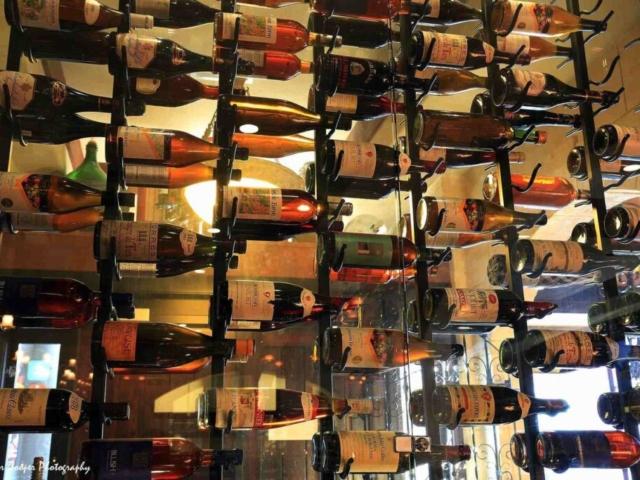 Vintage Wine Display