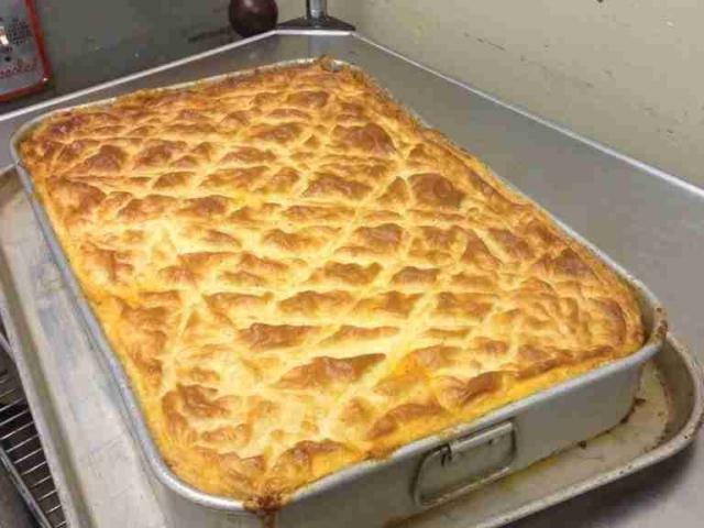 Freshly baked moussaka