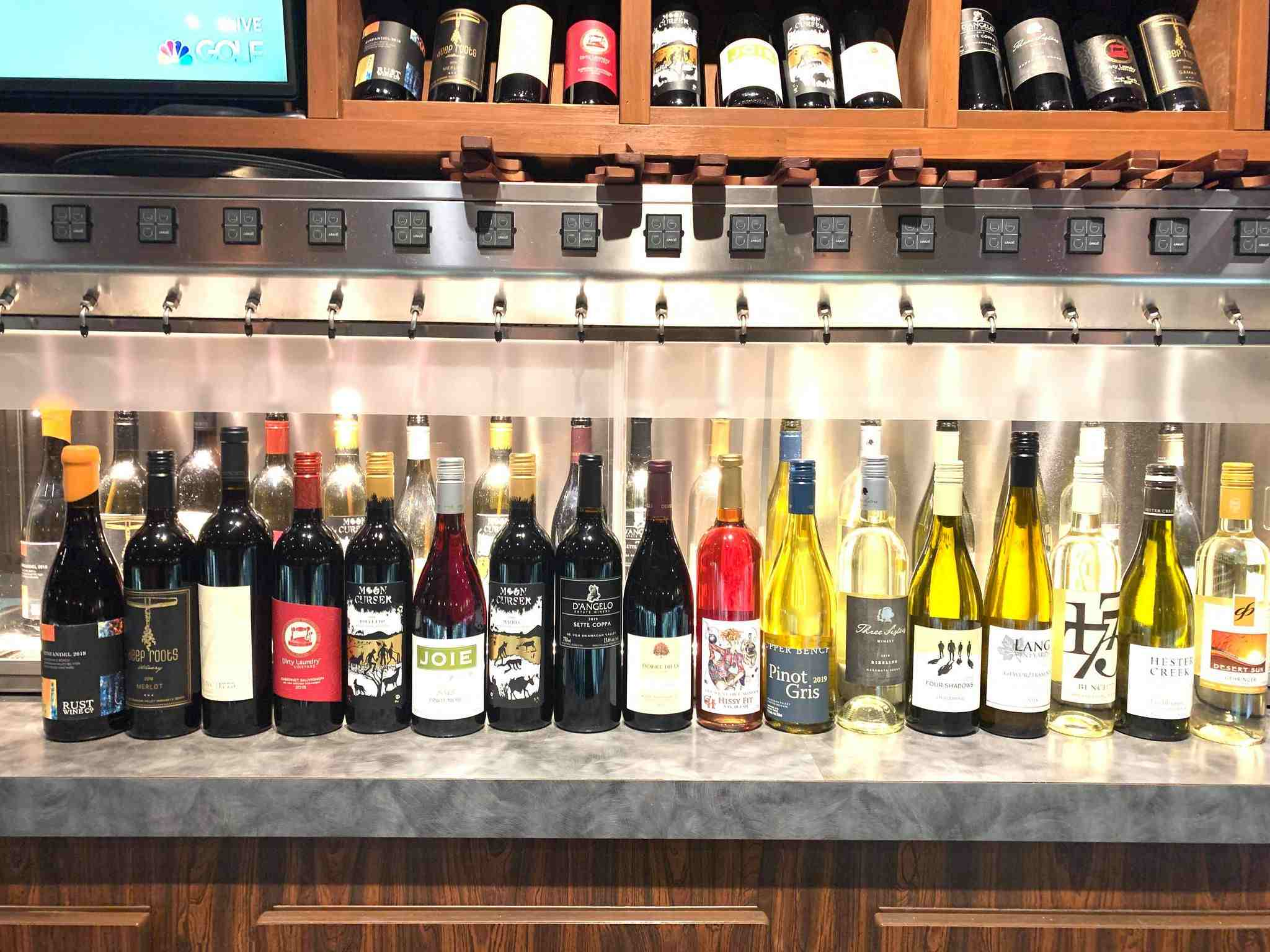 Wine bar, wine by the glass